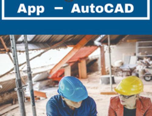 Aplicativo móvel para fazer planos 2D online com o AutoCAD